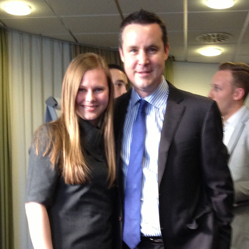 Elena with Darren Weeks at the Real Estate Event in Stuttgart
